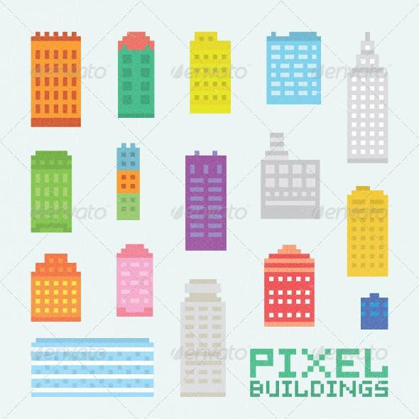 Pixel Art City Set 1