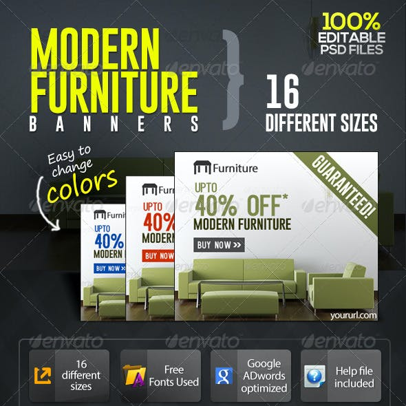 Modern Furniture Sale Banners