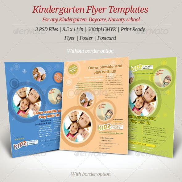 Kindergarten Daycare Flyer Templates