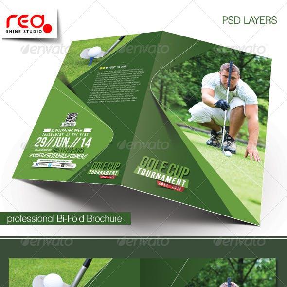 Golf Tournament Bi-fold Brochure Template