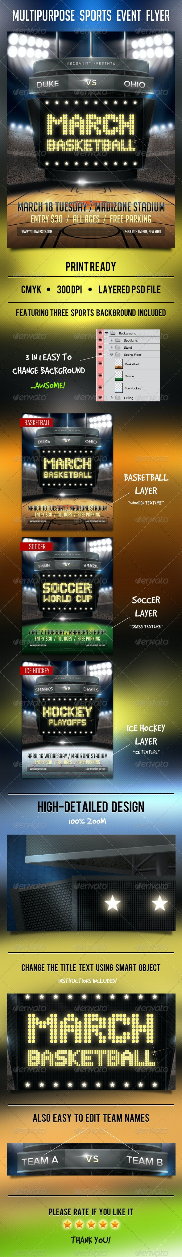 Multipurpose Sports Event Flyer - Sports Events
