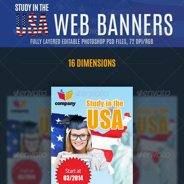 Education Web Banners Ad