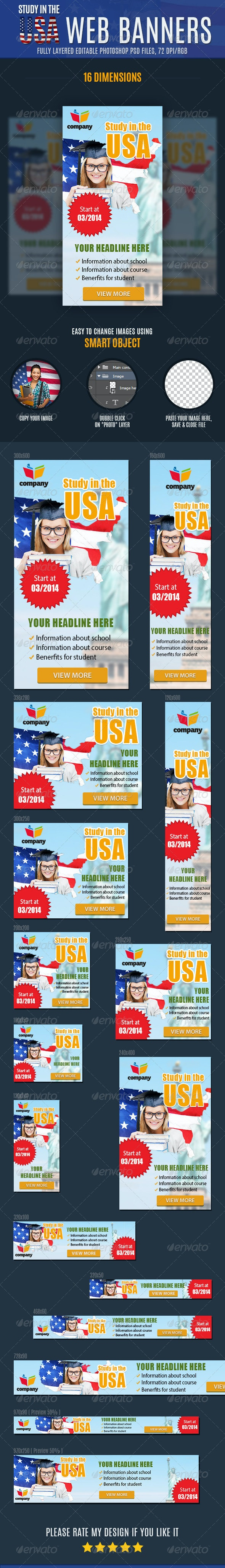 Education Web Banners Ad - Banners & Ads Web Elements