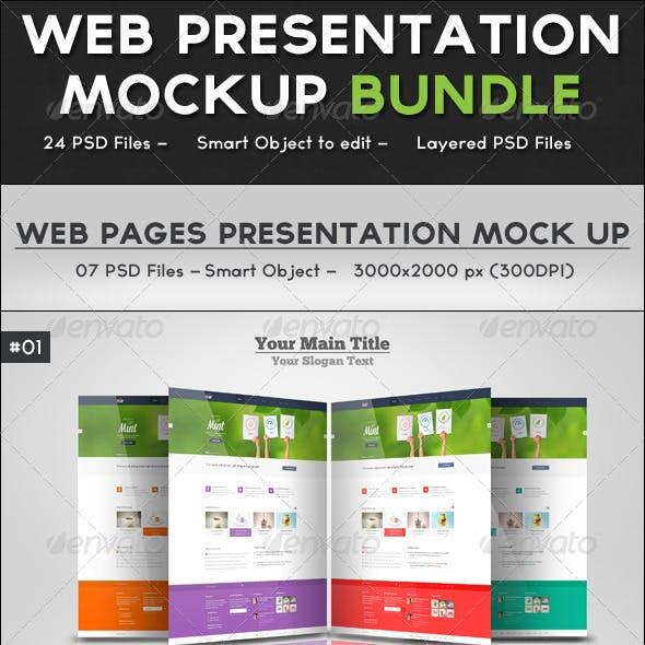 Web Presentation Mockup Bundle