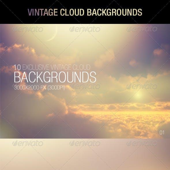 Vintage Cloud Backgrounds
