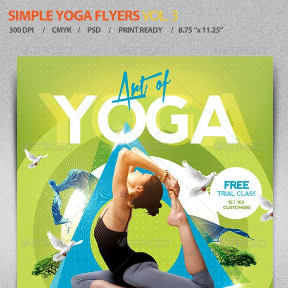 Simple Yoga Flyer Template V3