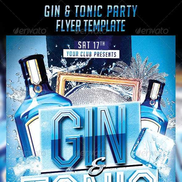 Gin Tonic Night Party Flyer