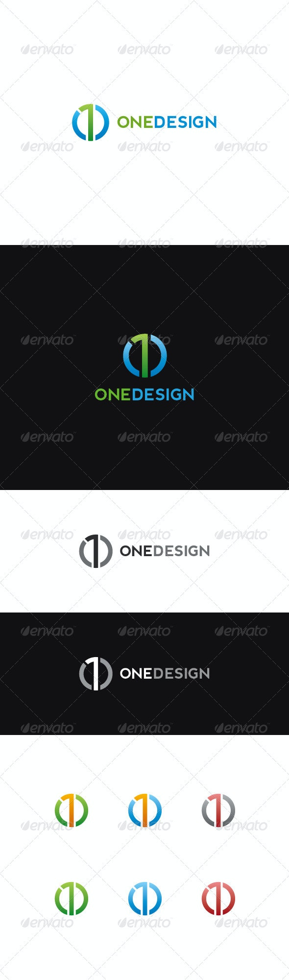 Number One Logo | Onedesign - Numbers Logo Templates