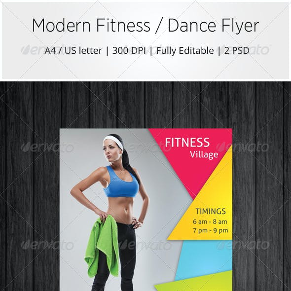 Modern Fitness / Dance Flyer