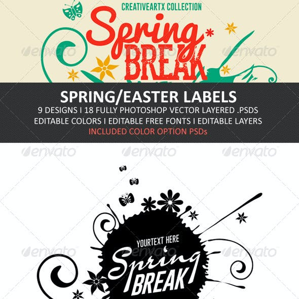 Spring/Easter Labels