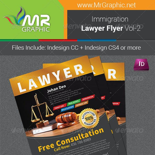Immigration Law Flyer Template Vol-2
