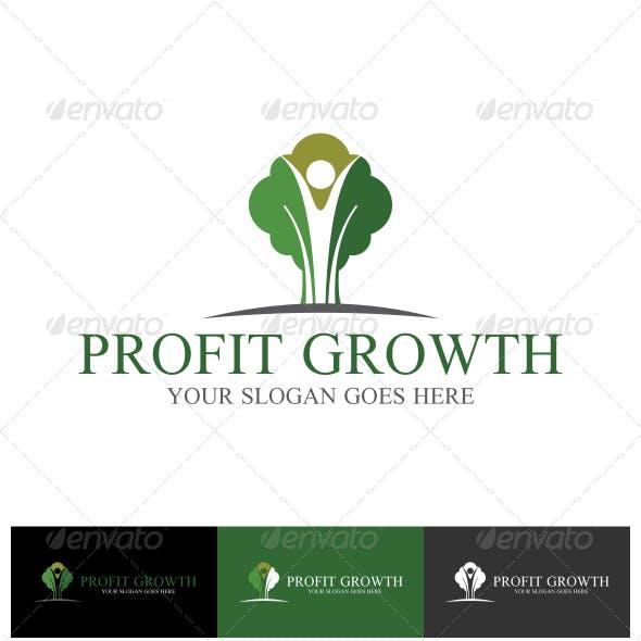 Profit Growth Logo Template