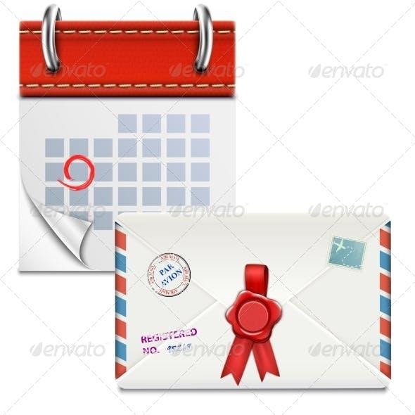 Loose-Leaf Calendar with Closed Envelope