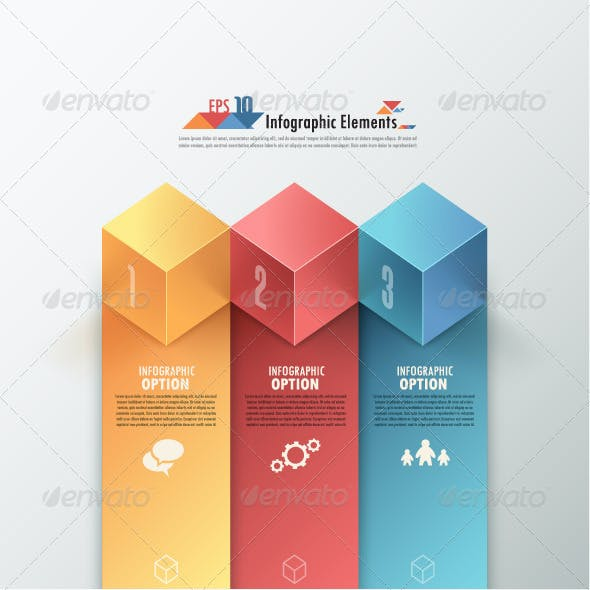 Modern Infographic Options Banner (Three Versions)