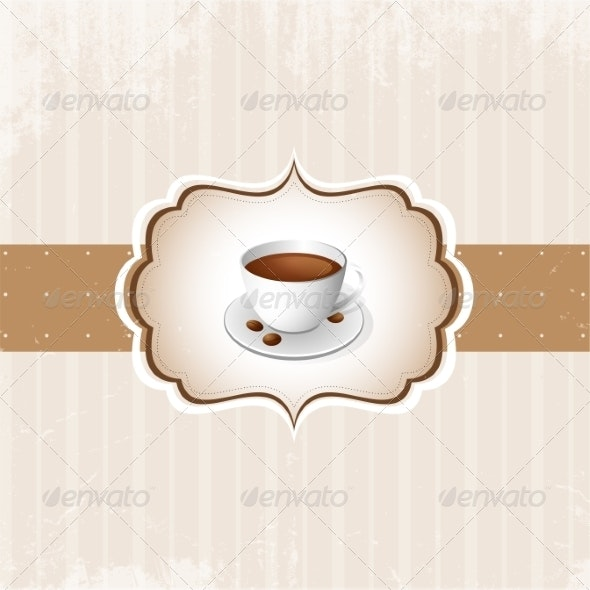 Vintage Coffee Background - Backgrounds Decorative