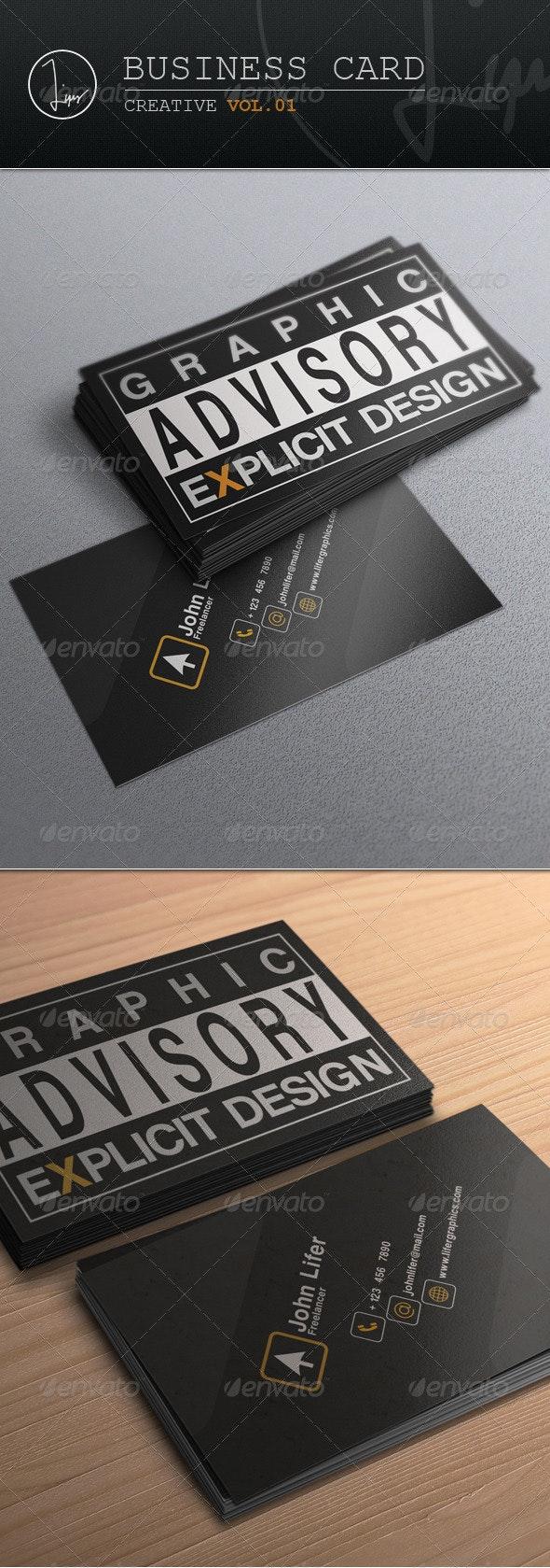 Business Card / Creative Vol.01 - Creative Business Cards