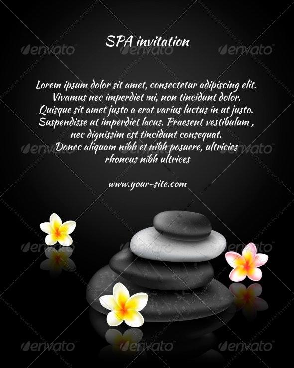 Spa Invitation Card - Borders Decorative