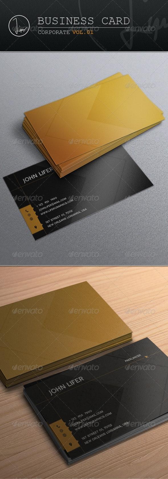 Business Card / Corporate Vol.01 - Corporate Business Cards