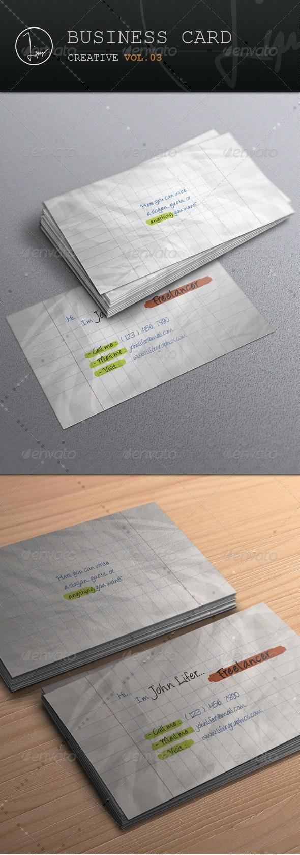 Business Card / Creative Vol.03 - Creative Business Cards