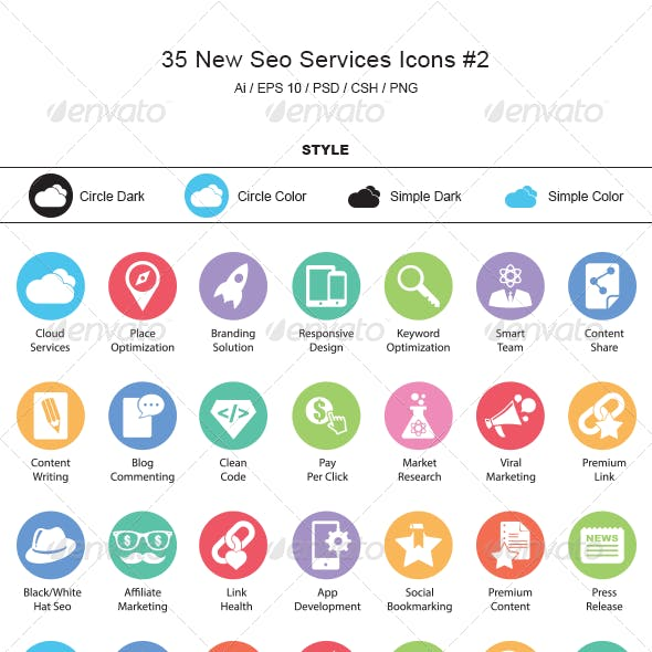 New SEO Services Icons #2