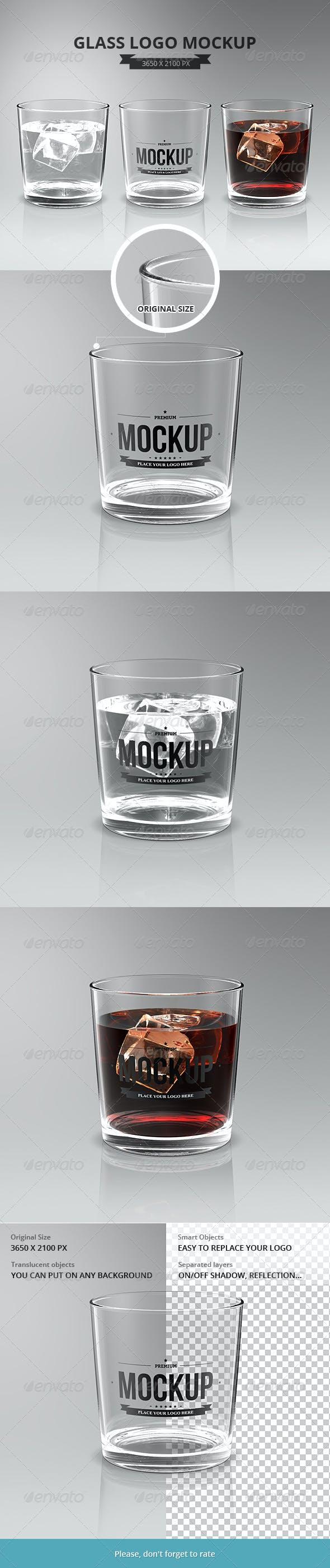 Glasses Logo Mockup