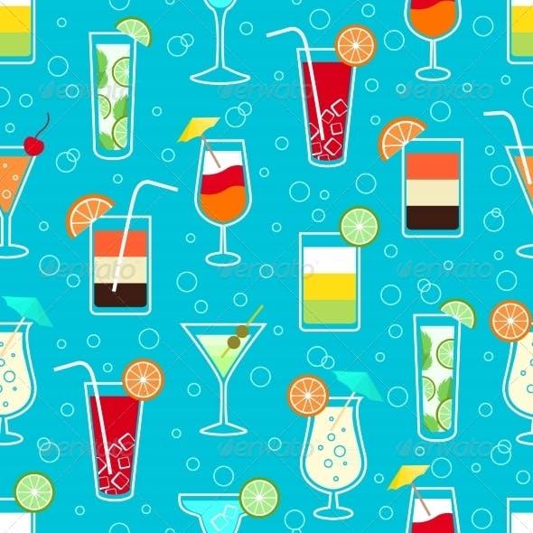 Seamless Drinks Pattern