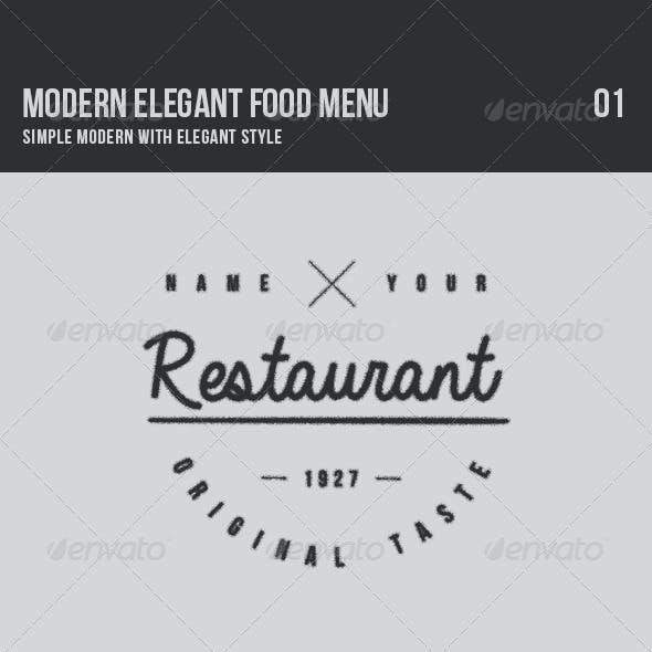 Modern Elegant Food Menu 01