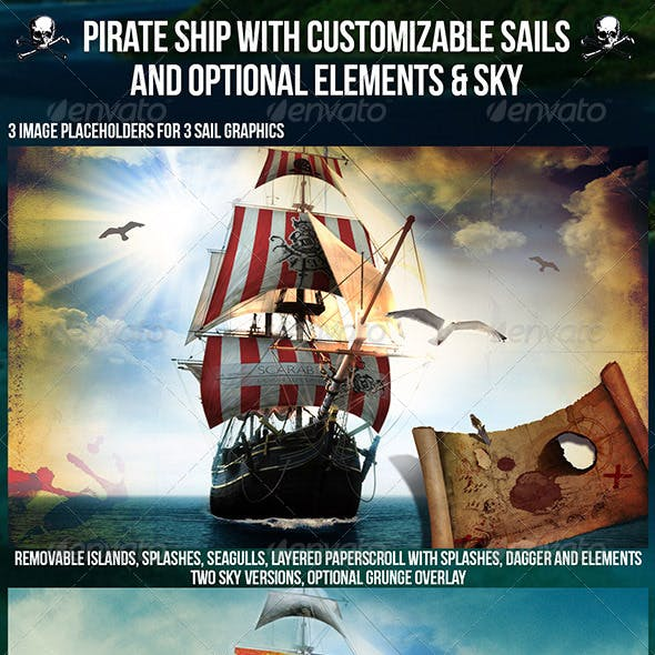 Pirate Ship Graphics Designs Templates From GraphicRiver