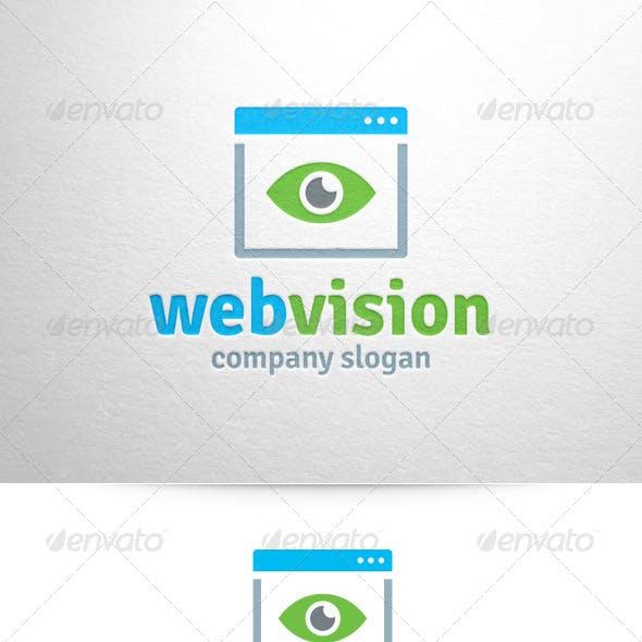 Web Vision Logo Template