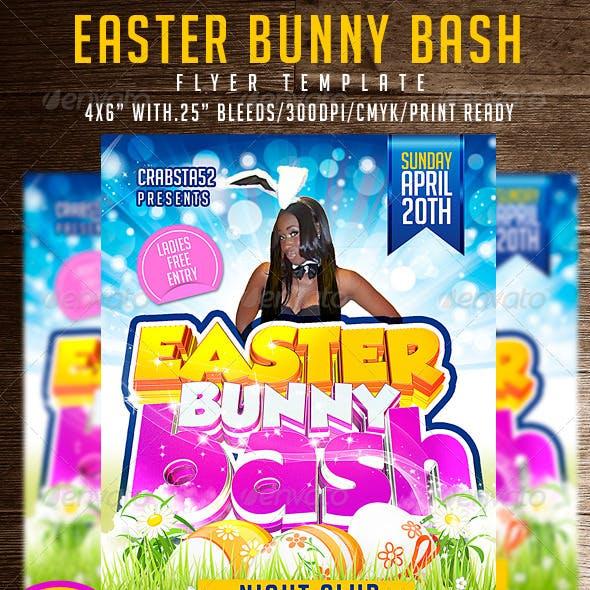 Easter Bunny Bash Flyer Template