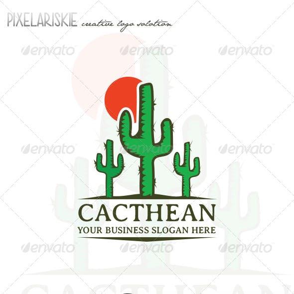 Cacthean Old Cactus Logo