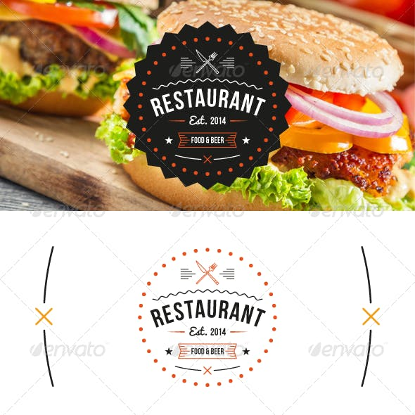 Restaurant Logo Template.