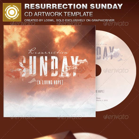 Resurrection Sunday CD Artwork Template