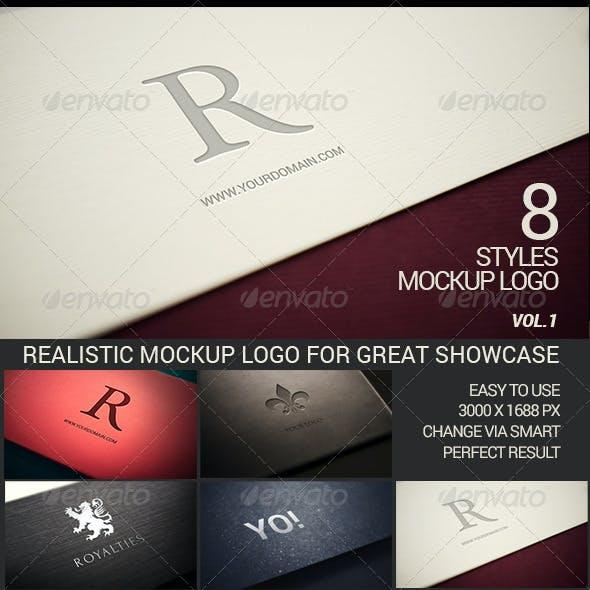 Photorealistic Modern Logo Mock-Up Pack Vol.1