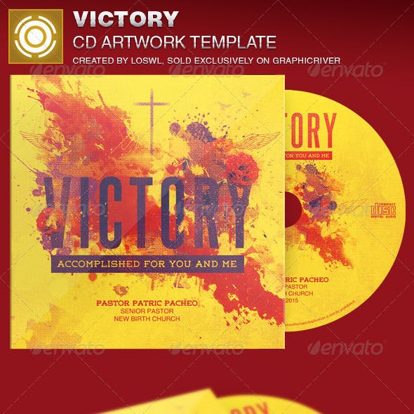 Victory CD Artwork Template