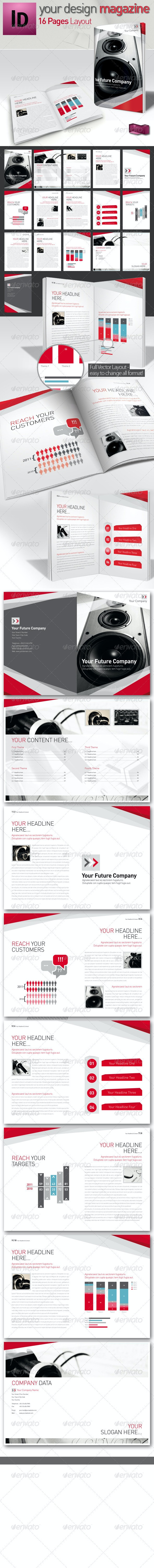 Business Magazine // 16 Page InDesign // A4 - Magazines Print Templates