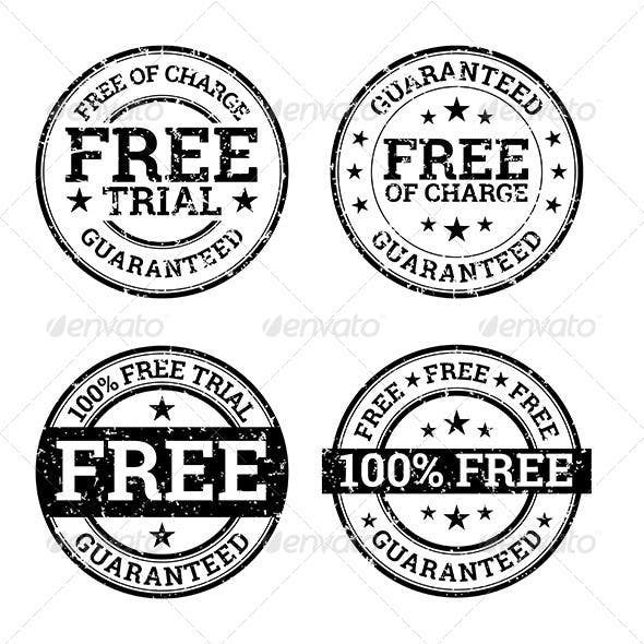 Free Trial Black and White Stamps