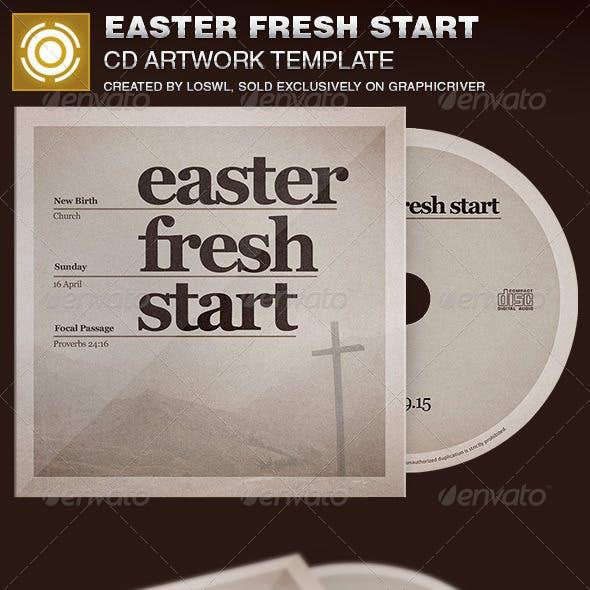 Easter Fresh Start CD Artwork Template