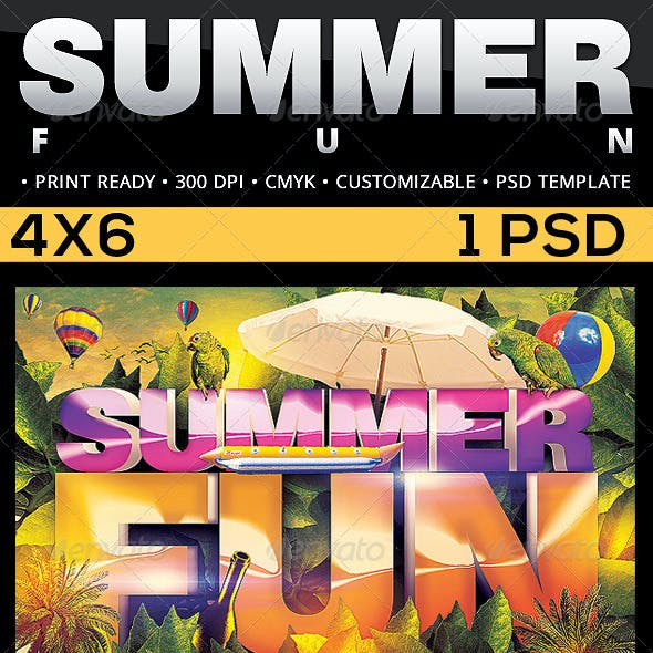 Summer Fun Flyer Template