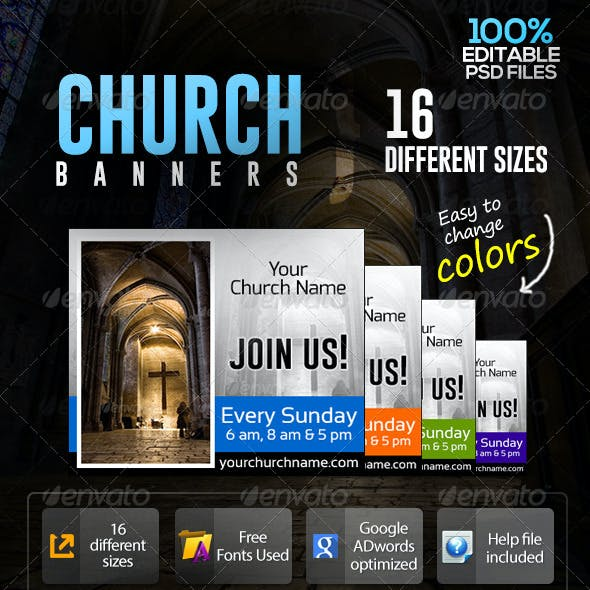 Church Prayer Time Banners