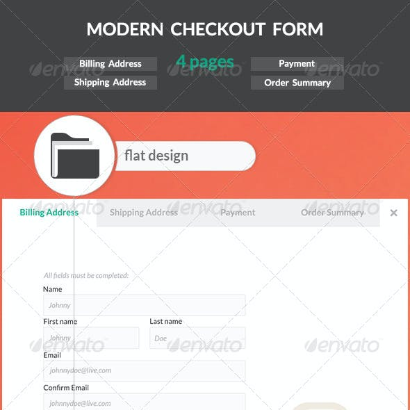 Modern Checkout Form