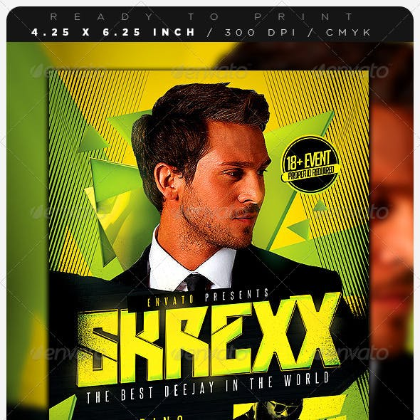DJ Event Music Flyer