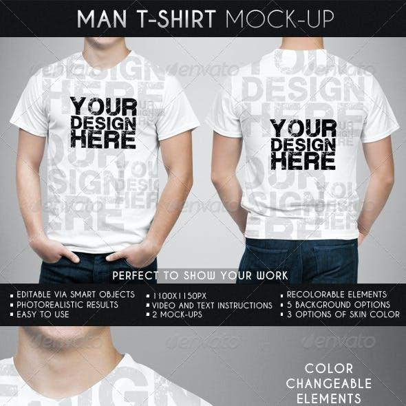 Man T-Shirt Mock-Up