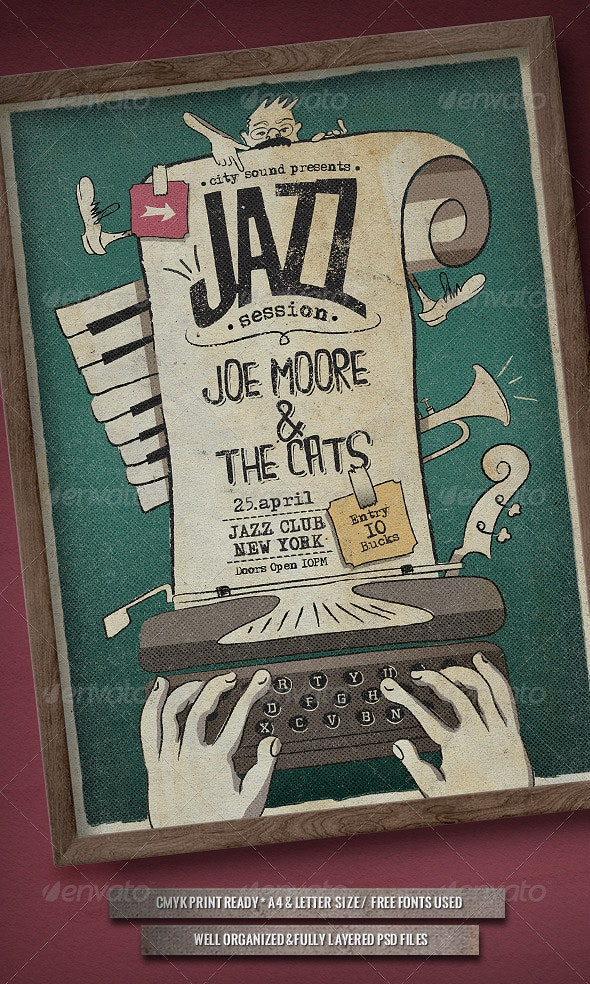 Jazz Session - Poster - Concerts Events