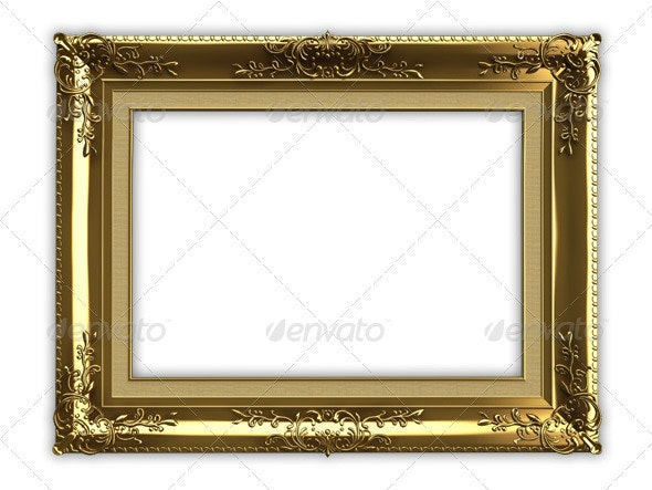 Gold Picture Frame - Objects 3D Renders
