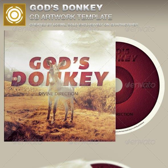 God's Donkey CD Artwork Template