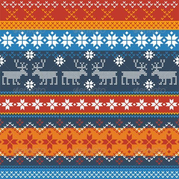Traditional Norwegian Pattern with Reindeer