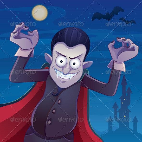 Dracula Cartoon - Characters Vectors
