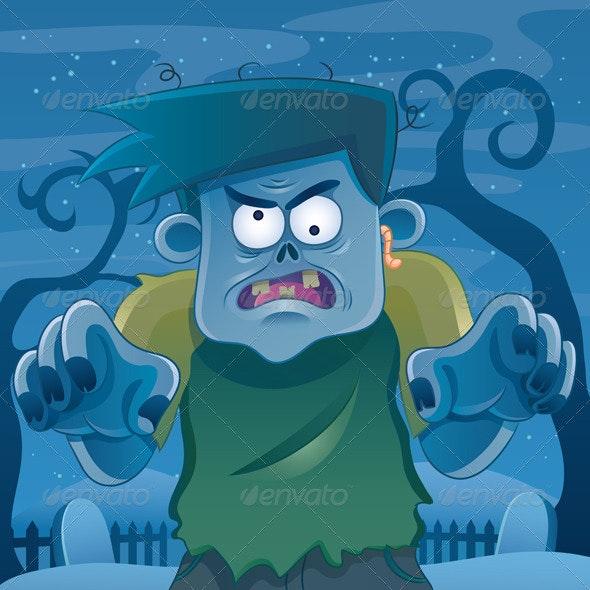 Zombie Cartoon - Characters Vectors