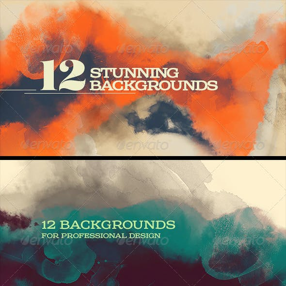 12 Painting/Watercolor Backgrounds